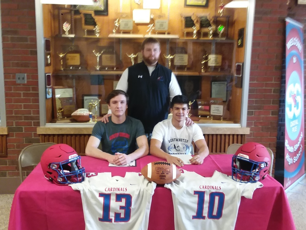 Dodd and Fenton Sign to Play Football in College