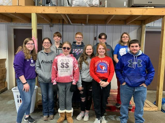 South Shelby Students Help at the Local Food Pantry