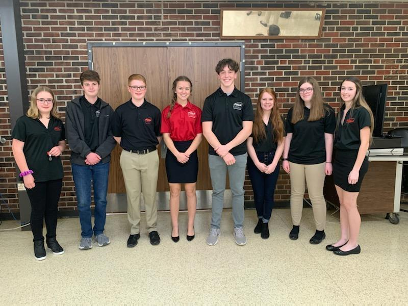 South Shelby FCCLA Region 3 Officers Installed